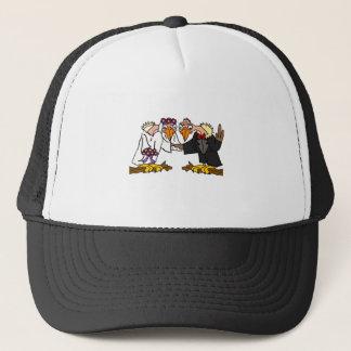 Funny Old Buzzard Wedding Cartoon Art Trucker Hat
