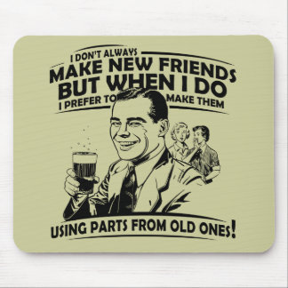 Funny old friends mouse pad
