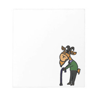 Funny Old Goat Original Art Cartoon Notepad