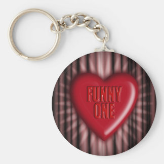 Funny One Basic Round Button Key Ring