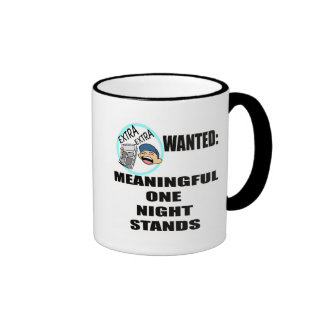 Funny One Night Stand T-shirts Gifts Ringer Mug