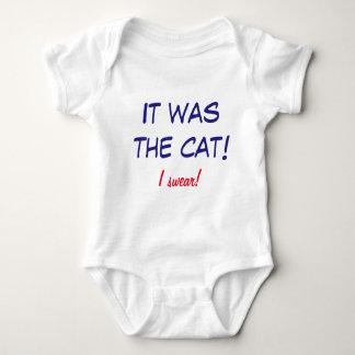 Funny Onsie - Baby Blames the Cat! Baby Bodysuit