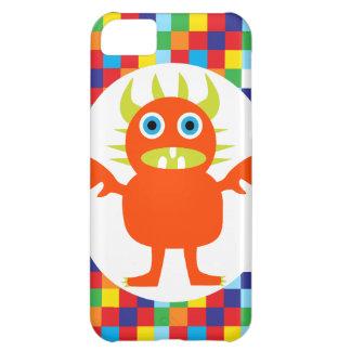 Funny Orange Monster Creature Bright Color Blocks iPhone 5C Case