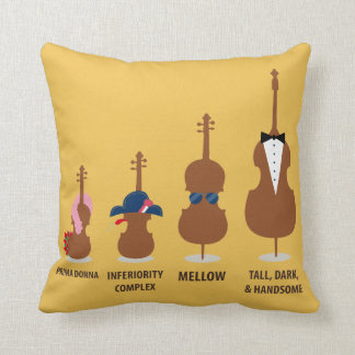 Funny Orchestra Strings Instruments Cushion