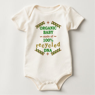 Funny Organic Recycled DNA Baby Baby Bodysuit