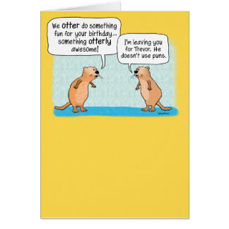 Funny Otters Birthday Card