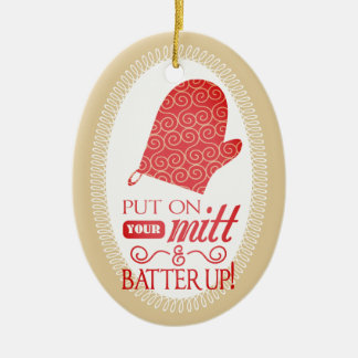 funny oven mitt culinary baking Christmas ornament
