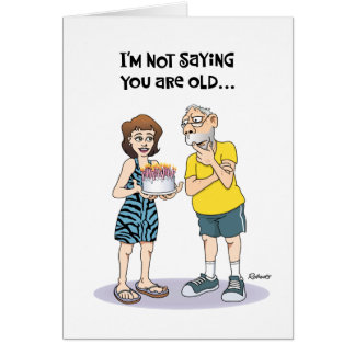 """Funny """"Over the Hill"""" 65th Birthday Greeting Card"""