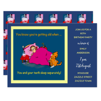 FUNNY Over the Hill Birthday Invites - 70th Woman