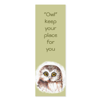 Funny Owl, Birds Custom, Animal  BookMark Pack Of Skinny Business Cards