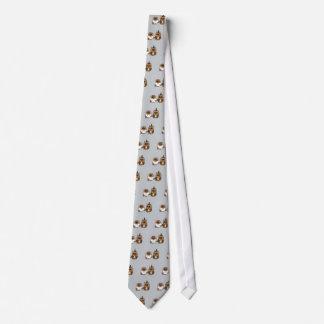 Funny Owl Bride and Groom Wedding Tie