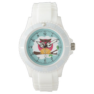 Funny Owl Cartoon Watch