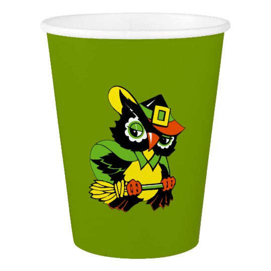 Funny Owl Halloween Party Paper Cups