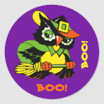 Funny Owl. Halloween Stickers