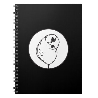 Funny owl spiral note books