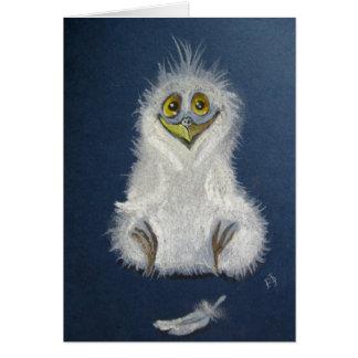 Funny owlet - baby bird card