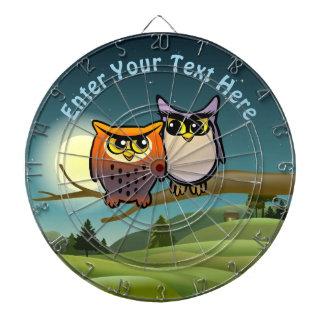 Funny Owls Cartoon Dartboard