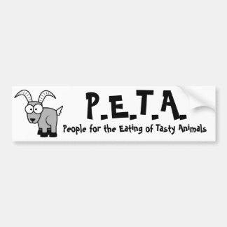 funny P.E.T.A. Bumper Sticker