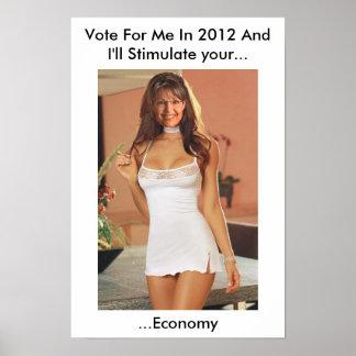 Funny Palin 2012 T Shirts (Anti Obama) Poster