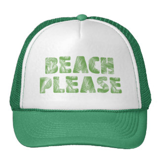 Funny Palm Tree Typography - Beach, Please! Cap