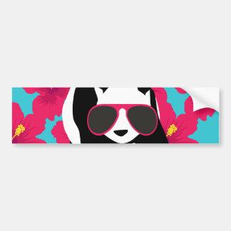 Funny Panda Bear Beach Bum Cool Sunglasses Tropics Bumper Sticker