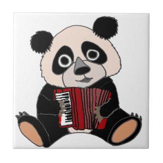 Funny Panda Bear Playing Accordion Tile