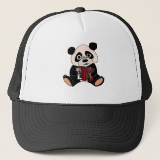 Funny Panda Bear Playing Accordion Trucker Hat