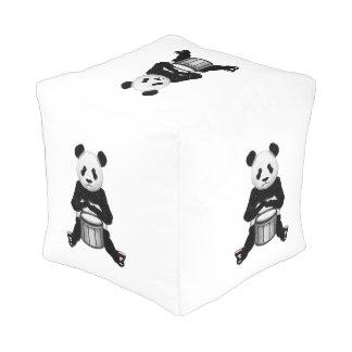 Funny Panda Playing Drums Pouf