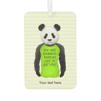 Funny Panda Wearing a Green Tshirt