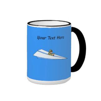 Funny Paper Airplane Pilot Mug