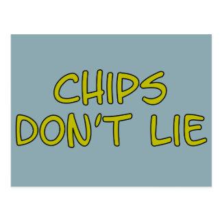 Funny Parody slogan Chips Postcard