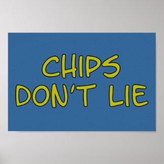 Funny Parody slogan Chips Poster