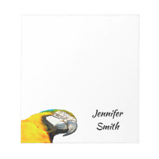 Funny Parrot Bird Personalized Name Notepad