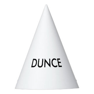 Funny party dunce hat