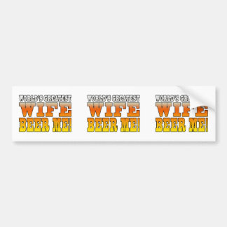 Funny Party Gifts for Wives : Worlds Greatest Wife Bumper Stickers