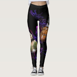 Funny Party Leggings with Wrapped No-Smoking Area