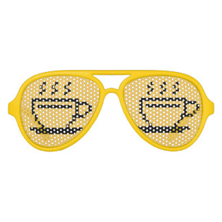 Funny party shades for coffee addict