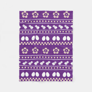 Funny pattern with chicken | Easter collection Fleece Blanket