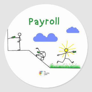 Funny Payroll Sticker for Accountant