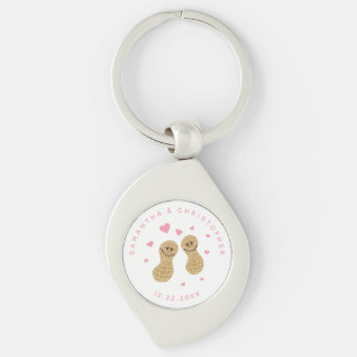 Funny Peanuts Cute Whimsical Pink Wedding Favor Key Ring