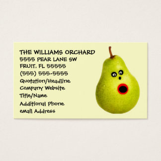 Funny Pear Grower Advertising