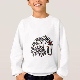Funny Penguin and Christmas Igloo Sweatshirt