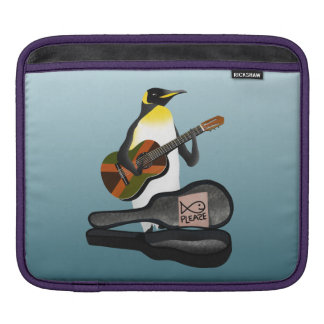 Funny Penguin Busking Sleeves For iPads
