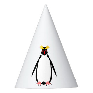 Funny penguin rockhopper or macaroni party hat