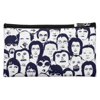 Funny People Faces Graphics Collection Makeup Bags