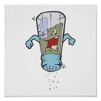 funny pepper shaker cartoon character posters