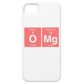 "Funny Periodic table ""OMG"" iPhone 5 Case"