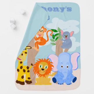 Funny personalised kids baby blanket