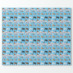 Funny Personalised Old MacDonald's Farm Wrapping Paper