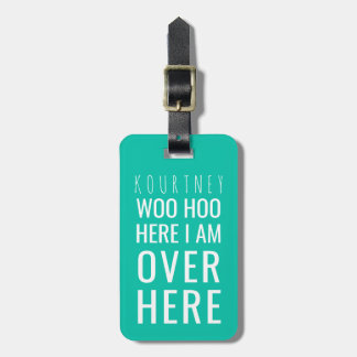 FUNNY PERSONALIZED BAG ATTENTION | HUMOUR GREEN LUGGAGE TAG